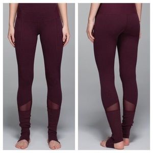 Lululemon maroon Devi stirrup leggings